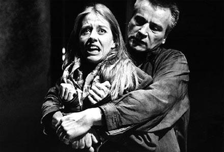 "Jumboteatret: ""I Byernes jungle"" 1995. Birgitte Prins, Lars Sidenius"